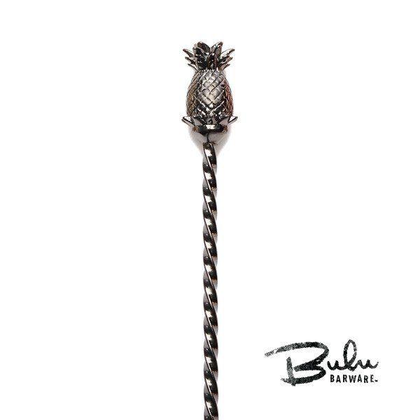 110997 fc7b6be483f1402e898bc848456c04d4 Bulu Pineapple BarSpoon - Gunmetal Black