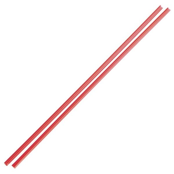 collinsstraw COLLINS STRAW - RED - 200mm / 4mm (1000 pieces)