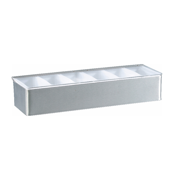 dispenser6 Bar dispenser / Condiment holder, 6 containers