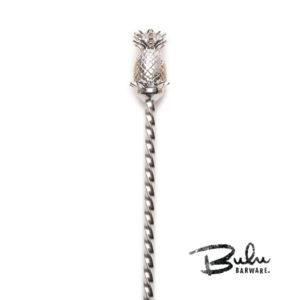 silverpin1 Bulu Pineapple BarSpoon - Silver