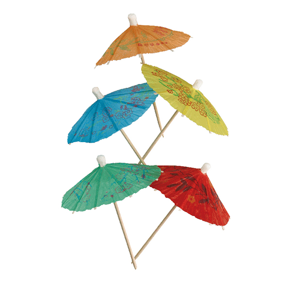 umbrella Cocktail Parasol Mixed (144pcs)